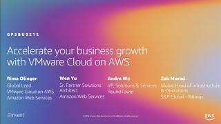 AWS re:Invent 2019: Accelerate your business growth with VMware Cloud on AWS (GPSBUS212)