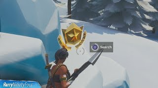 Search Where Magnifying Glass Sits on Treasure Map Location Guide - Fortnite (Season 8 Challenge)