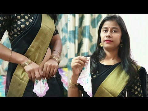 Easy Tips and Tricks to Carry Hanky with Saree Properly Part - 2