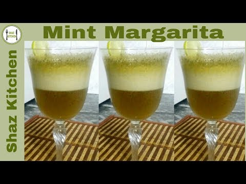 Video Mint Margarita Recipe(In Urdu/Hindi)How To Make Mint Margarita Slush/Mint Lemon Drink/Mint Soda