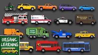 Learning Street Vehicles Names and Sounds for Kids - Learn Cars, Trucks, Fire Engines & More