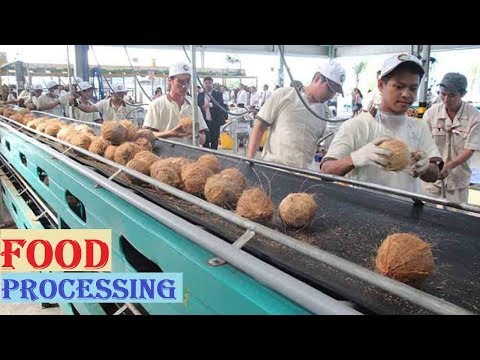 , title : 'Amazing COCONUT Processing in Factory ★ Coconut Oil, Milk & Water ★ Awesome Food Processing Machines