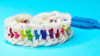 "БРАСЛЕТ ""СПАЙК"" ИЗ РЕЗИНОК на РОГАТКЕ без станка | Bracelet Rainbow Loom"