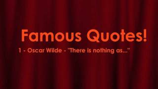 Oscar Wilde Quote - There is nothing as... - English Lesson on Famous Quotes!