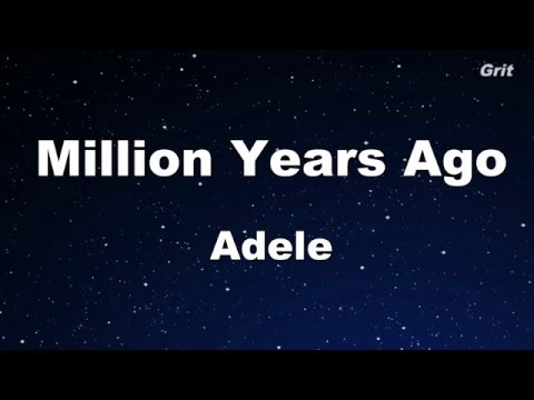 Million Years Ago - Adele Karaoke 【With Guide Melody】Instrumental