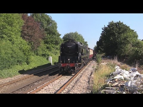 34052 'Lord Dowding' passes Upwey with 'The End of Southern …