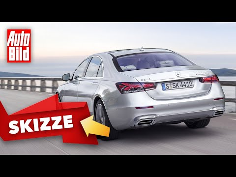 Mercedes S-Klasse (2020): Heck - Skizze - Rückleuchten