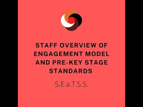 Screenshot of video: Explaining Engagement Model and Pre Key Stage Standards for school staff