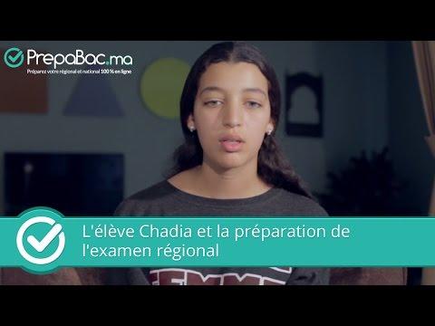 L'élève Chadia et la préparation de l'examen régional