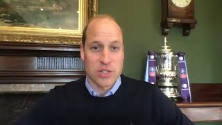 video: Prince William tells Arsenal players they will boost the nation's mental health by playing