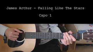James Arthur – Falling Like The Stars EASY Guitar Tutorial With Chords  Lyrics