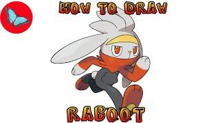 Raboot  - (Pokémon) - How To Draw Pokemon - Raboot   Drawing Animals