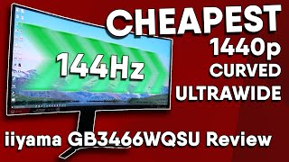 The CHEAPEST 144Hz 1440p ULTRAWIDE (Freesync HDR Curved)   iiyama GB3466WQSU Review