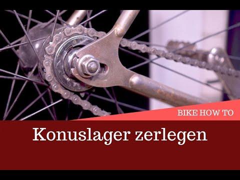 Tutorial: Hinterrad läuft sehr schwer /  Konuslager zerlegen