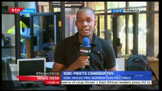 IEBC holds a meeting with political aspirants in Mombasa