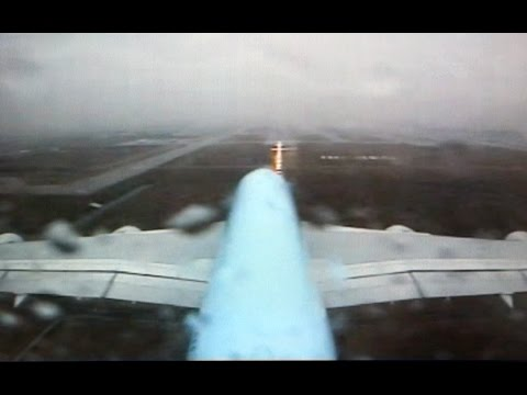 A380 Water Spray Rain Landing: The Korean Air Beast kissing the ground in Seoul Incheon! [AirClips]