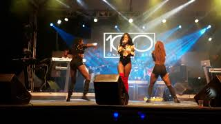 Tosh Alexander performance at 100 Live Stage Show with Versatileones KimikoVersatile n TaraTehrebel