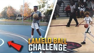 EXTREME LAMELO BALL HALF COURT CHALLENGE!! LOSER GETS MOST EMBARRASING PUNISHMENT!