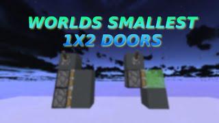 Worlds SMALLEST 1x2 Piston Doors (4 blocks and 3 blocks) Sick Edit