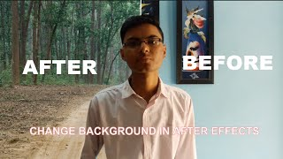how to change background of a video in after effects by masking - tutorial