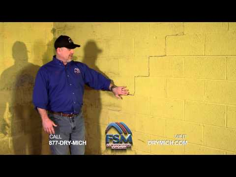 Steve Ray is the inspections manager for Foundation Systems of Michigan. In this video he speaks about the different and common signs of structural and drainage problems homeowners should be aware of. When encountering any of these signs, they should call for professional help right away, because foundation problems never stabilize or get better on their own. They always get worse. Stairstep cracks in foundation walls can grow into a bowing wall problem, and a small leak can lead to a basement flooding episode. If you live in Metro Detroit, Ann Arbor, Flint, Saginaw, Midland, Cheboygan, Traverse City and nearby cities in Michigan, call Foundation Systems of Michigan for affordable, effective and permanent solutions.