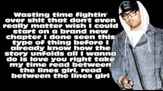 Chris Brown ft. Kevin McCall - Between The Line W/Lyrics