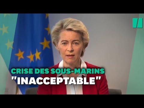 """Crise des sous-marins: la France """"traitée de façon inacceptable"""" pour von der Leyen"""