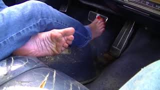 Barefoot Driving Maid's morning cranking