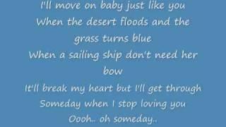 Carrie Underwood  Someday When Stop Loving You Lyrics
