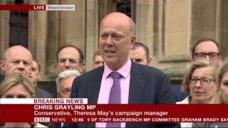 Chris Grayling: Andrea Leadsom is a 'true public servant'