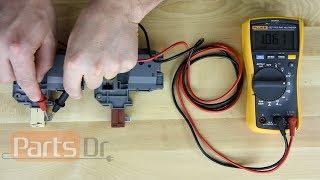 How to test Frigidaire Door Lock part # 131763256 & 131763202
