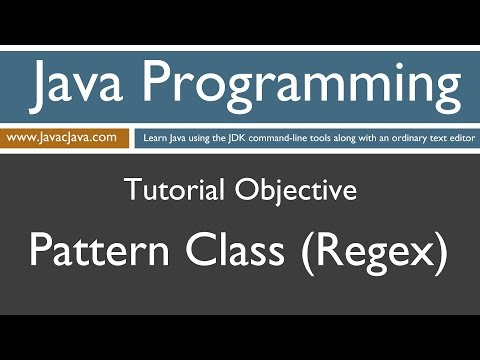 Learn Java Programming - Pattern Class (Regex) Tutorial