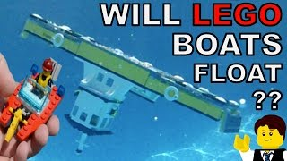 DO THESE LEGO BOATS FLOAT?