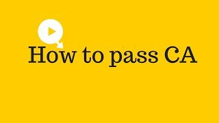 How to pass CA (Chartered Accountant)   How to pass CA final (Chartered Accountant)