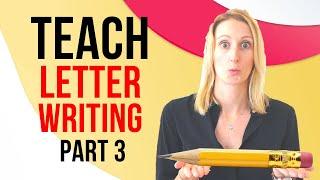ESL Teaching Letter Writing Game Ideas For Kids - English Teaching Letter Writing Tips For Beginner