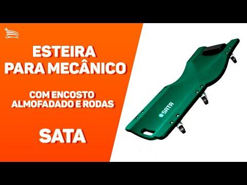 Esteira para Mecânico com Encosto Almofadado e Rodas - Video