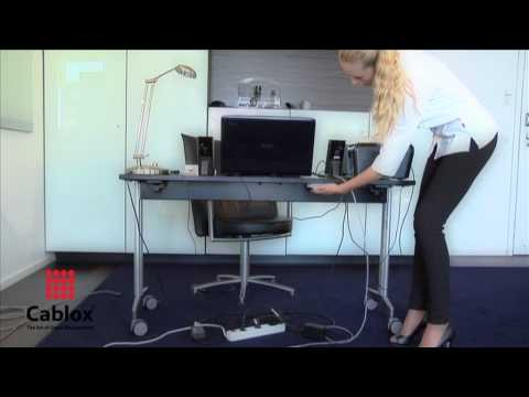 Cablox Manages And Routes The Cables Under Your Desk