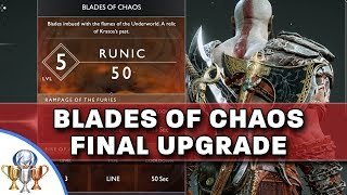 God Of War - Upgrade Blades Of Chaos To Max - Chaos Flame / Raging Inferno Of Muspelheim Location