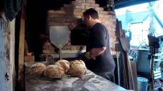 Baking Bread In A Wood Fired Pizza Oven