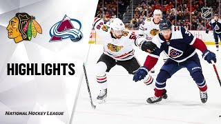 NHL Highlights | Blackhawks @ Avalanche 11/30/19