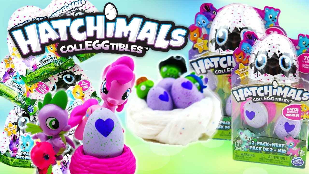 Queen Chrysalis and Angry Birds Pigs STEALS Hatchimals CollEGGtibles from My Little Pony