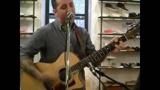 Bayside - Head on a Plate acoustic at Fred Perry's Surplus Shop in Brooklyn 3-29-12