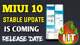 miui 10 global stable rom release date