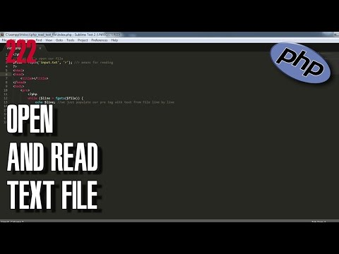 LEARN PHP How To Open And Read Text File Mp3