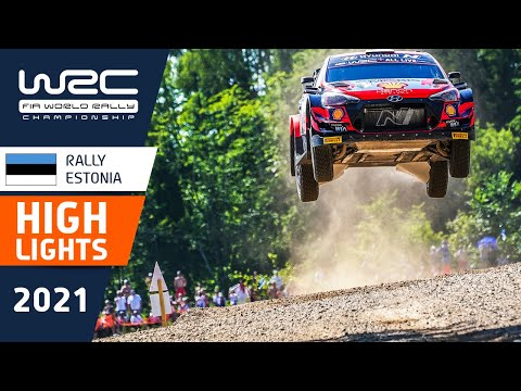 WRC 2021 第7戦ラリー・エストニア SS14-SS17のハイライト動画