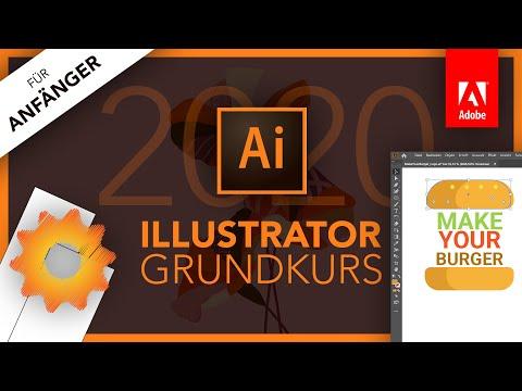 Adobe Illustrator 2020 (Grundkurs für Anfänger) Deutsch (Tutorial)