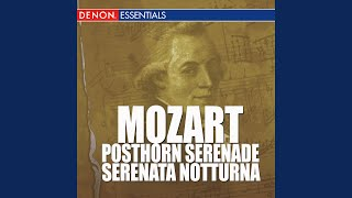 Serenata Notturna No. 6 In D Major KV 239 - Rondeau - Allegretto