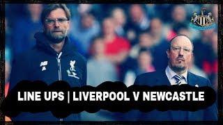 Live | Line ups | Liverpool v Newcastle United