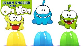 Om Nom Stories: COLORFUL JELLY SLIME | Learn Colors with Jelly Slime Fun Toys for Kids by Om Nom