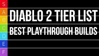 Diablo 2 TIER LIST - Best PvM Playthrough Characters (SSF)